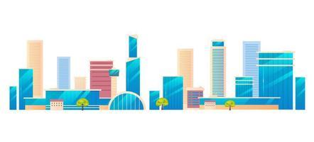 ciudad metrópolis moderna vector