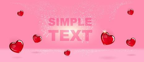 Heart shaped candies banner