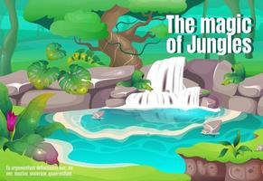 cartel de la magia de la jungla vector