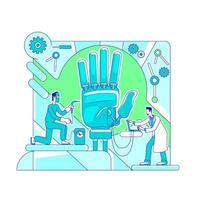 Prosthetics science lab vector