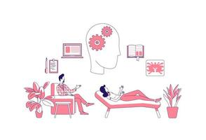 terapia psicologica con paciente vector