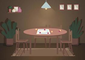 Place for evening family leisure vector