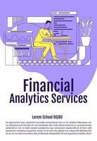 cartel de servicios de análisis financiero vector