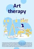 cartel de terapia de arte vector