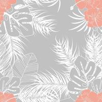Summer seamless tropical pattern with monstera palm leaves