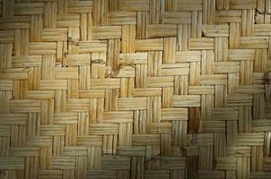 Woven bamboo skin texture photo