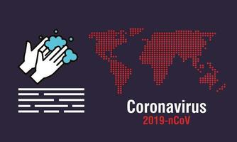 Coronavirus prevention banner vector
