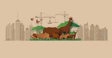 día mundial de la vida silvestre vector