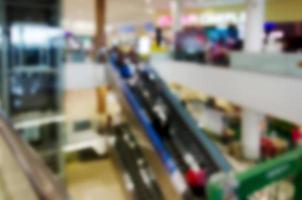 fondo borroso del centro comercial