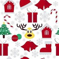 Christmas Items Seamless Pattern vector