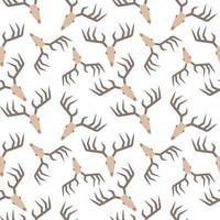 Deer Antlers Skull Pattern vector
