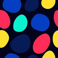 Colorful Freehand Drawn Shapes Pattern vector