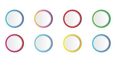 Blank Circle Infographics Templates vector