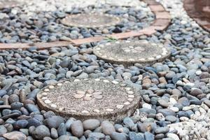 camino de piedra del jardín