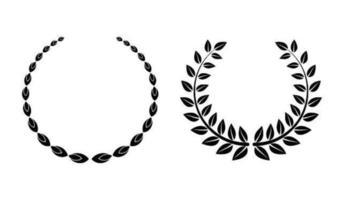 diseños de corona de laurel vector