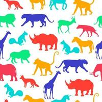 Wild Animals Silhouette Vector Repeat Seamless Background Pattern