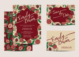 Wedding Cards Template vector