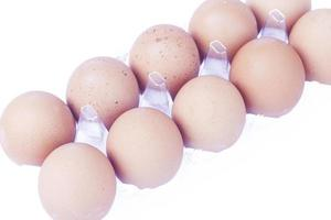 Eggs in a plastic crate photo