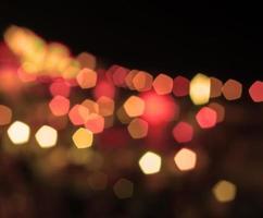 Red and orange bokeh lights