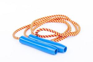 Skipping rope with plastic handles
