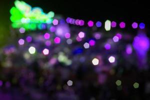 Purple and green bokeh lights