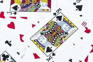 Close-up of playing cards photo