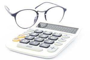 Calculator with eyeglasses