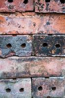 viejo muro de ladrillo rojo