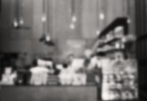 Blurred black and white cafe background