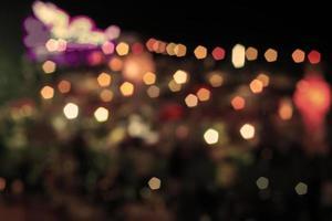 Abstract bokeh night lights