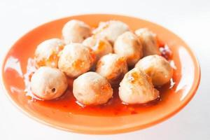 Pork meatballs in sauce