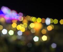 Dark bokeh lights background