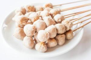 Pork meatballs on a plate photo