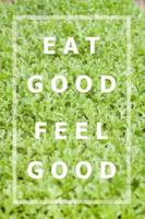 Eat good feel good inspirational quote