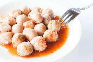 Pork meatballs and sauce