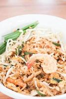 Stir fried noodle dish with shrimp