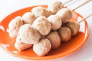 Mini pork meatballs photo