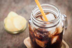 Glass jar of soda