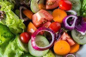 Close-up of fresh vegetable salad photo