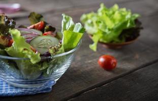 Fresh vegetable salad bowl
