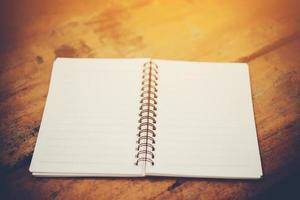 Blank white notebook with copy space