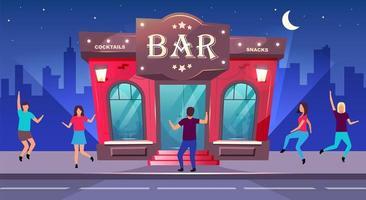 evento nocturno de bar vector