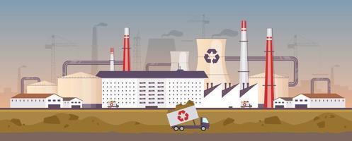 planta de gestión de residuos vector
