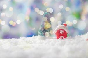 decoración navideña bokeh