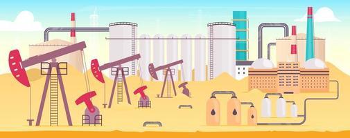 Industrial refinery plant vector
