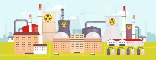 planta de energía nuclear vector