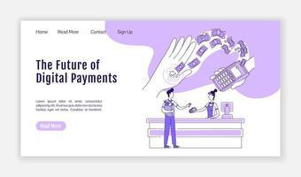 página de inicio de pagos digitales vector
