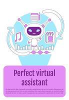 cartel de bot asistente vector