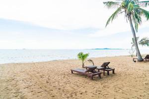 Island paradise beach chair background