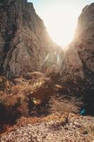 Relaxing massive rocky mountain photo